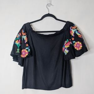 Judith March Boho Off The Shoulder Top